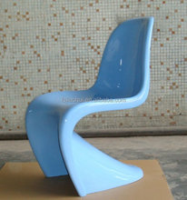 Modern design S shape fiberglass dining chair for sale