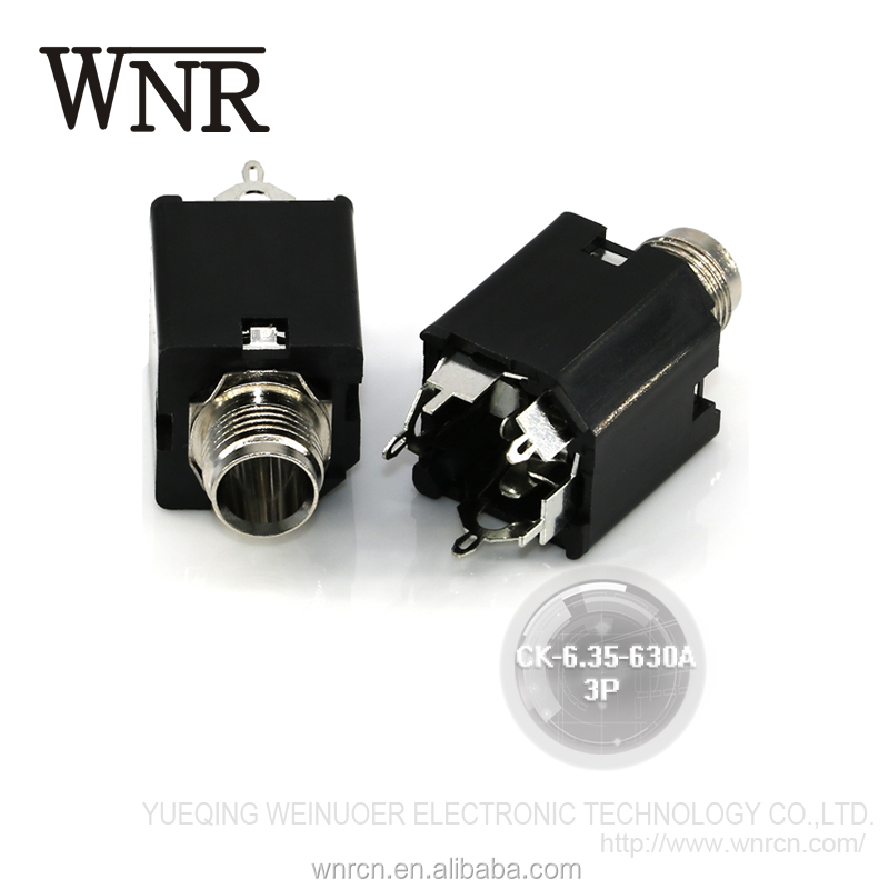 Sound console amplifier audio jack,microphone jack to rca plug,female 6.35mm headphone jack CK-6.35-630A