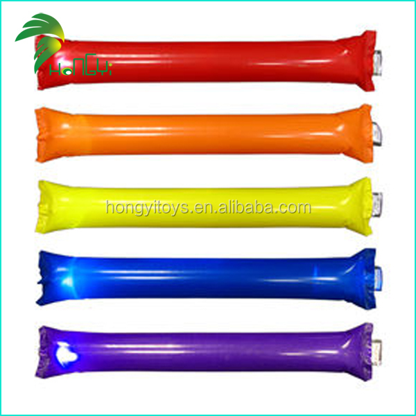 Colorful Safe Printing Exciting inflatable Sport Cheer Stick