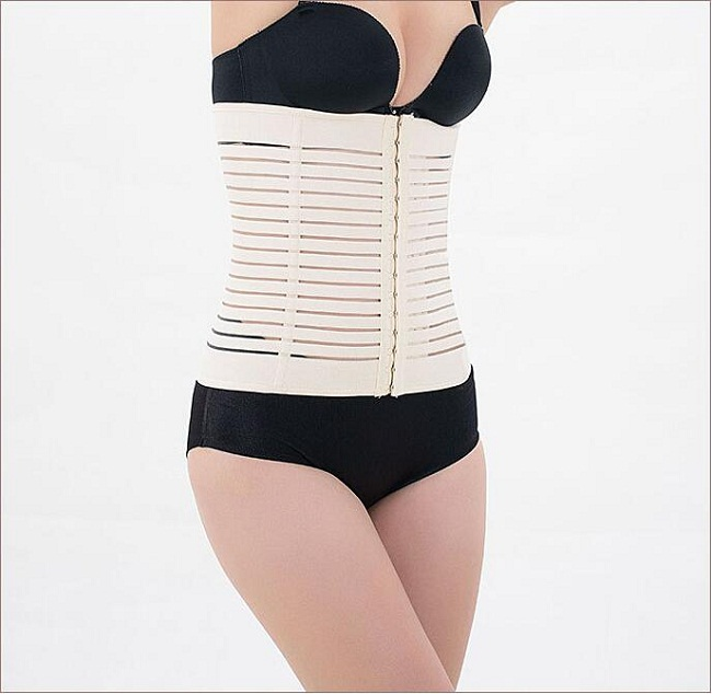 Private label elastic breathable body shaper trimmer corset waist trainer belt