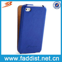 Gem blue PU case for apple iphone4 4s