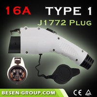 16Amp j1772 connector holster For Electric Vehicle Charging With CE, TUV, UL Certificates