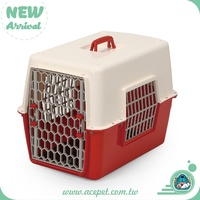 844-W/O Taiwan design Pet product,Dog Cat Transport Traveler Cage,3coior Plastic pet carrier