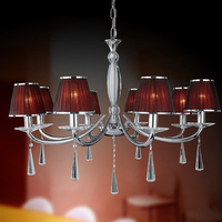 modern home crystal screw in pendant light