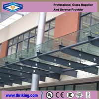 Out door canopy tempered glass
