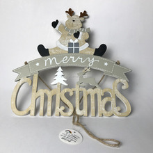 two sizes wooden christmas hanging wall ornaments