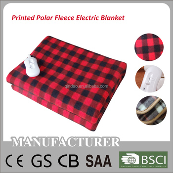 2016 Popular Polyester Soft Printing Fleece Electric Blanket