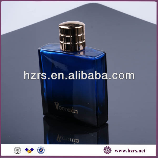 100ml blue perfume men bottle whole set with 15mm neck