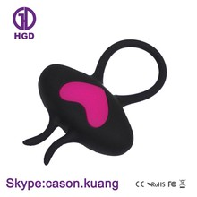 New design soft silicone rechargeable vibrator extension ring toy for male