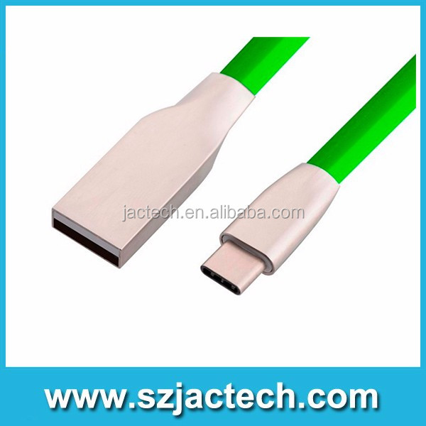 Free shipping Zinc Alloy Jelly Knitted Type-C 2A USB Charging Data cable for LG