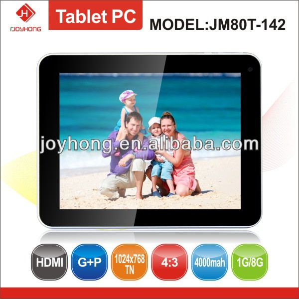 8 inch Rockchip 3168 Tablet PC Android 4.2 from JOYHONG