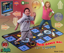 16 BIT Non-slip Double /Twin TV Dance Mat dance pad for pc & 218 Songs