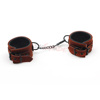 SM Strong Delicate Brown Suede Leather Handcuffs Adult Sex Toys Sex Products