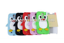 For Samsung Galaxy S4 i9500 Colorful 3D Penguin Silicone Soft Skin Gel Case