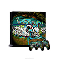 The Home Earth custom sticker for ps4 console and controller