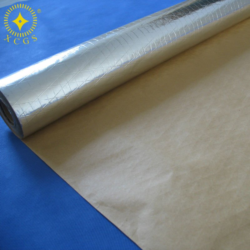 Roof Insulation Silver Double Sided Aluminum Foil Scrim Kraft