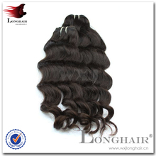 Thick Virgin Brazilian Human Hair Extensions Machine Made China Wholesale