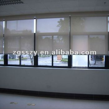 Ac dc motorized blackout roller shades buy electric for Motorized blackout roller shades