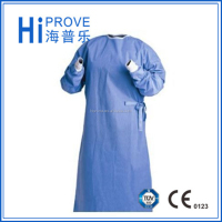 Sterile disposable Non woven fabric/ SMS/ PP+PE operation surgical gown