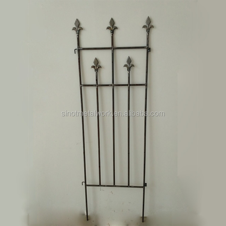 fencing supplies decorative wrought iron flower bed fence iron flower trellis metal garden border trellis