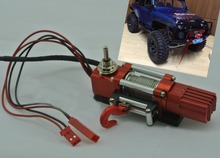 Newest rc accessory 1/10 RC Car Winch Remote Control Metal Electric Winch