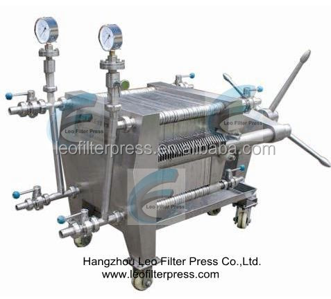 SS Plate and Frame Membrane Filtration Filter Press