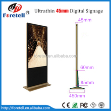 2016 45mm floor stand LG panel LCD Digital Signage with free software with wheels