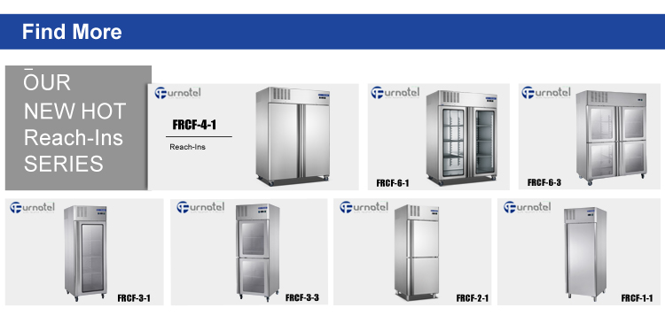 1350L Heavy Duty Double Glass Doors Vertical Refrigerator and Freezer High-end Series FRCF-6-1