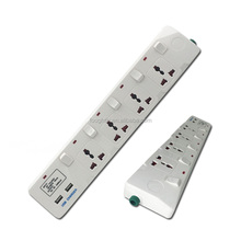 USB extension socket 4way multi socket extension cord socket with switch