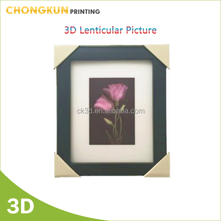 Beautiful flower 3d picture with frame nice lenticular effect