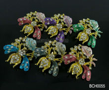 New design hot sales mixed colour bee metal fashion brooch