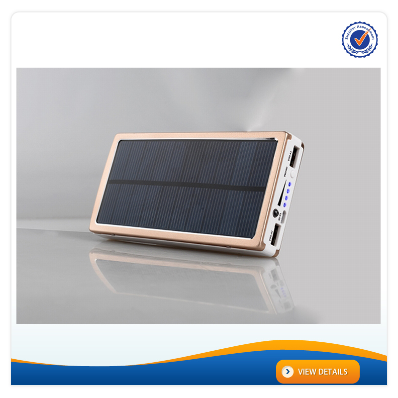 AWC709 15000mAh Universal Portable Dual USB Port Multiple Mobile solar Charger