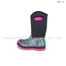 11'' Kid's Waterproof Neoprene Rubber Boot For Winter
