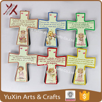 Ceramic decoration the cross shape gift of religious belief the design of angel