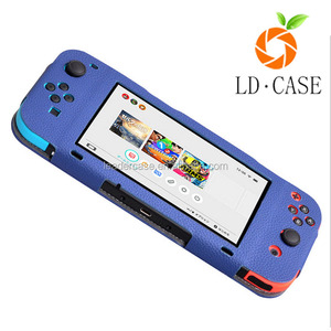 2017 Newest Design Flip leather Case For Nintendo Switch ( Bule )