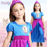 new 2016 children girls tiana princess night gown sleeping wear pajamas for wholesale