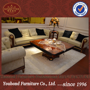 2016 YB latest collection 0068 European classical home/hotel sofa set in leather or fabric