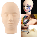 Pro Training Mannequin Flat Head Practice Make Up Eyelash Eye Lashes Extensions