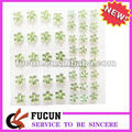 custom flower self adhesive acrylic rhinestone sticker sheet in stock for phone decoration