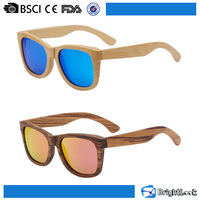 2016 Newest model blue mirror lens true color wood sunglasses polarized