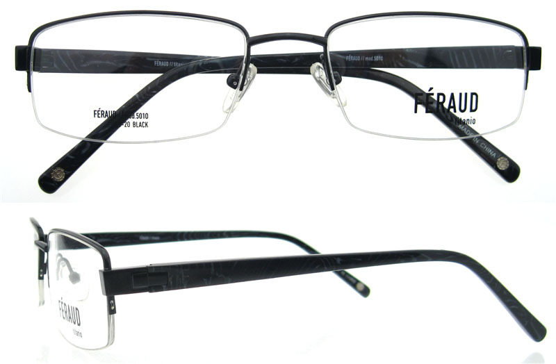 Eyeglass Frame Oxidation : Wholesale 2015 new trends half-rim men titan optical frame ...