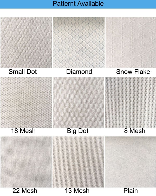 Viscose And Polyester White Spunlance Non Woven Fabric