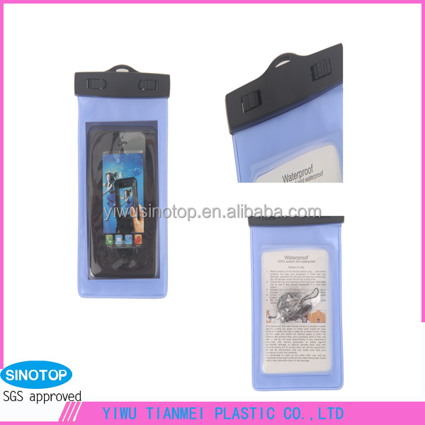 High Quality Plastic Phone Bag PVC Beach Phone Case