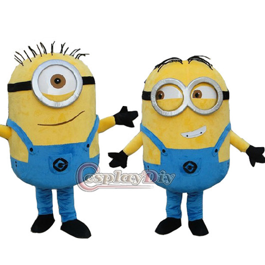 despicable me minion mascot costume for adults costume yellow custom made