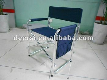 folding chair with side table