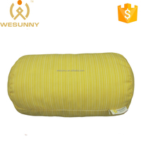 Design For Waist Relieve Yellow Stripes Cylindrical Cushion