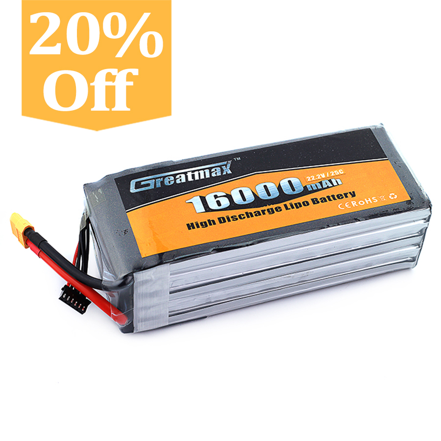 Greatmax Good Quality Custom 6s1p Prismatic Lipo Battery Pack 22.2v 16ah