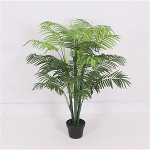 New arrival comfortable design office decoration 5 banches small artificial outdoor palm trees