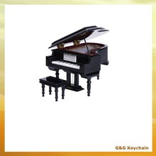 Hand Cranked Wooden Mini Piano Shaped Music Box MB 021
