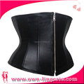 china Manufacture Zipper PU leather Body Slimming Corset